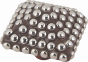 Atlas Homewares - 3103 - D Large Square Beaded Knob 2 1/2 Inch - Silver