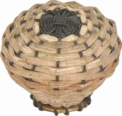 Atlas Homewares - 3128 - Bamboo Wire Weaved Knob 1 1/2 Inch - Aged Bronze