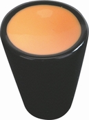 Atlas Homewares - 3131-O - D Indochine Cone Knob 1 Inch - Orange