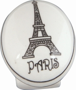 Atlas Homewares - 3141 - D Paris Knob 1 1/4 Inch - Ceramic