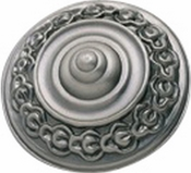 Atlas Homewares - 4004-P - D St Germain Knob 1 5/8 Inch - Pewter