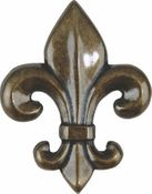 Atlas Homewares - 4006-BB - Fleur de lys Knob 2 1/4 Inch - Burnished Bronze