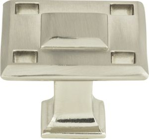Atlas Homewares - 4007-R - Modern Craftsman Square Knob 1 5/16 Inch - Rust