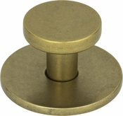 Atlas Homewares - A600-UB - Dot Knob 1 1/4 Inch - Vintage Brass