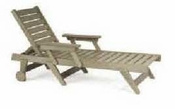 Breezesta Chaise Lounges - Picnic Tables - Chaise Lounge Chair with Wheels - CL-1300