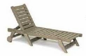 Breezesta Chaise Lounges - Picnic Tables - Sun Chaiser Flat with Wheels - CL-1301
