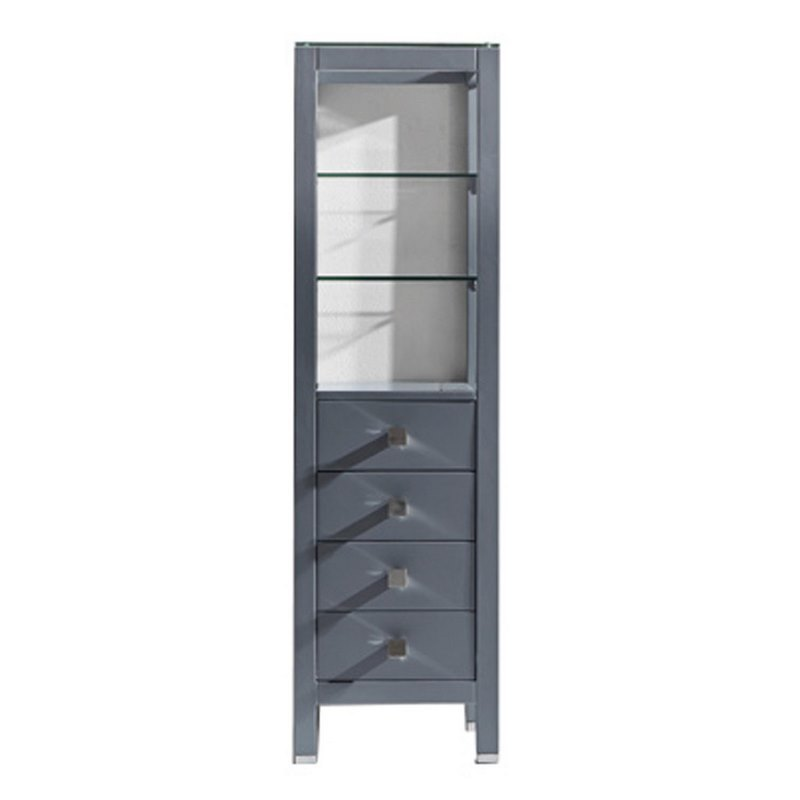 Virtu Usa Cailey 16 Quot Linen Cabinet In Grey Mdc 489 Gr