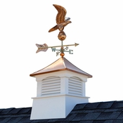 """Good Directions - 18"""" Square Coventry Vinyl Cupola with Eagle Weathervane - 2118CV-8815P"""