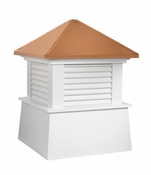 """Good Directions - 18"""" Square Manchester Vinyl Cupola with Cottage Victorian Arrow - 2118MV-8842P"""