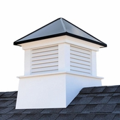 """Good Directions - 18"""" x 22"""" Manchester Vinyl Cupola with Black Aluminum Roof - 2118MVBLK"""
