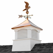 """Good Directions - 30"""" Square Coventry Vinyl Cupola with Eagle Weathervane - 2130CV-8815P"""