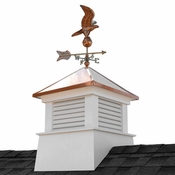 """Good Directions - 30"""" Square Manchester Vinyl Cupola with Eagle Weathervane - 2130MV-8815P"""