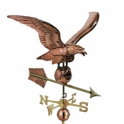 "Good Directions - 34"" Smithsonian Eagle Estate Weathervane - Polished Copper - 956P"
