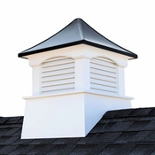 """Good Directions - 36"""" x 49"""" Coventry Vinyl Cupola with Black Aluminum Roof - 2136CVBLK"""