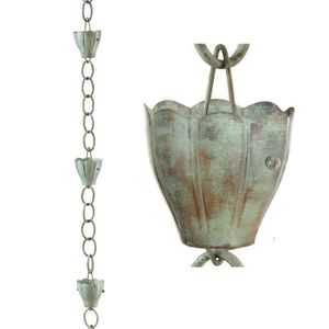Good Directions - 6 Cup Crocus Pure Copper 8.5 ft. Rain Chain by Good Directions - 491V1 - 8