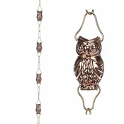 Good Directions - 9 Cup Owl Pure Copper 8.5 ft. Rain Chain by Good Directions - 475P - 8