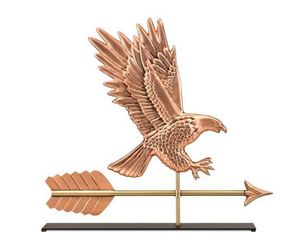 Good Directions - American Bald Eagle Pure Copper Weathervane Sculpture on Mantel Stand - 1969PM