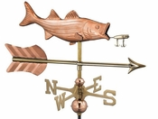 Good Directions - Bass with Lure and Arrow Cottage Weathervane - 8847PAR