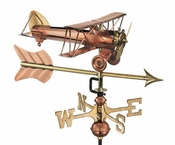 Good Directions - Biplane with Arrow Garden Weathervane - 8812PAG