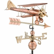 Good Directions - Biplane with Arrow Weathervane - 9521PA