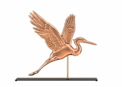 Good Directions-Blue Heron Copper Table Top Sculpture-1971PM