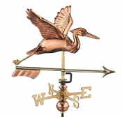 Good Directions - Blue Heron with Arrow Garden Weathervane - 8805PAG