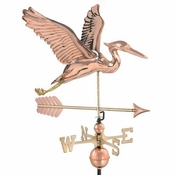 Good Directions - Blue Heron with Arrow Weathervane - 9606PA