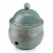 Good Directions - Brass Key West Hose Pot with Lid - 457B-458B