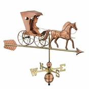 Good Directions - Country Doctor Weathervane with Arrow - Polished Copper - 548PA