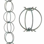 Good Directions - Double Link Pure Blue Verde Copper 8.5 ft. Rain Chain Leader - 464V1-8