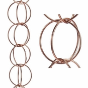 Good Directions - Double Link Pure Copper 8.5 ft. Rain Chain - 464P-8