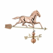 Good Directions - Estate Weathervane - Horse - Polished Copper - 958P