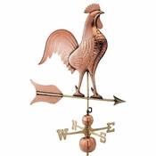 Good Directions - Estate Weathervane - Jumbo Barn Rooster - Polished Copper - 616P