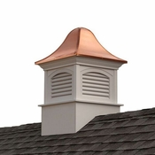 Good Directions - Fairfield Vinyl Cupola with Copper Roof - B26SL