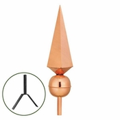 Good Directions - Finial - Lancelot - Polished Copper  - 701