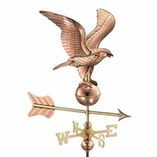 Good Directions - Eagle Garden Weathervane - Polished Copper w/Roof Mount - 8815PR