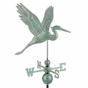 Good Directions - Graceful Blue Heron Weathervane - 1971V1