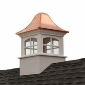 Good Directions - Greenwich Vinyl Cupola with Copper Roof - B26SW