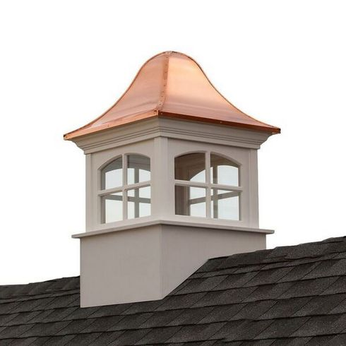 Good Directions - Greenwich Vinyl Cupola with Copper Roof - B60SW