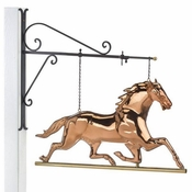 Good Directions-Horse Copper Hanging Wall Sculpture-580PH