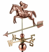 Good Directions - Jumping Horse & Rider Weathervane - 1912P