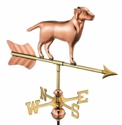 Good Directions - Labrador Retriever Garden Weathervane - Polished Copper w/Garden Pole - 810PG