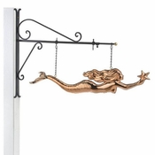 Good Directions-Mermaid Copper Hanging Wall Sculpture-966PH