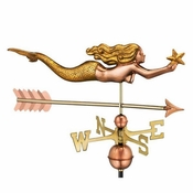 Good Directions - Mermaid with Starfish and Arrow Weathervane - 966GLA