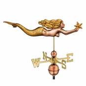 Good Directions - Mermaid with Starfish Weathervane - 966GL