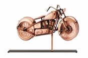 Good Directions-Motorcycle Copper Table Top Sculpture-669PM