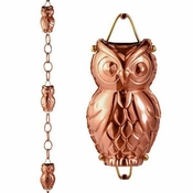 Good Directions-Owl Pure Copper 8.5 ft. Rain Chain-473P-8