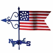 Good Directions - Americana Flag Garden Weathervane w/Roof Mount - 836R