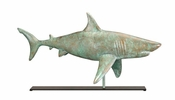 Good Directions-Shark Blue Verde Copper Table Top Sculpture-965V1M