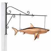 Good Directions-Shark Copper Hanging Wall Sculpture-965PH